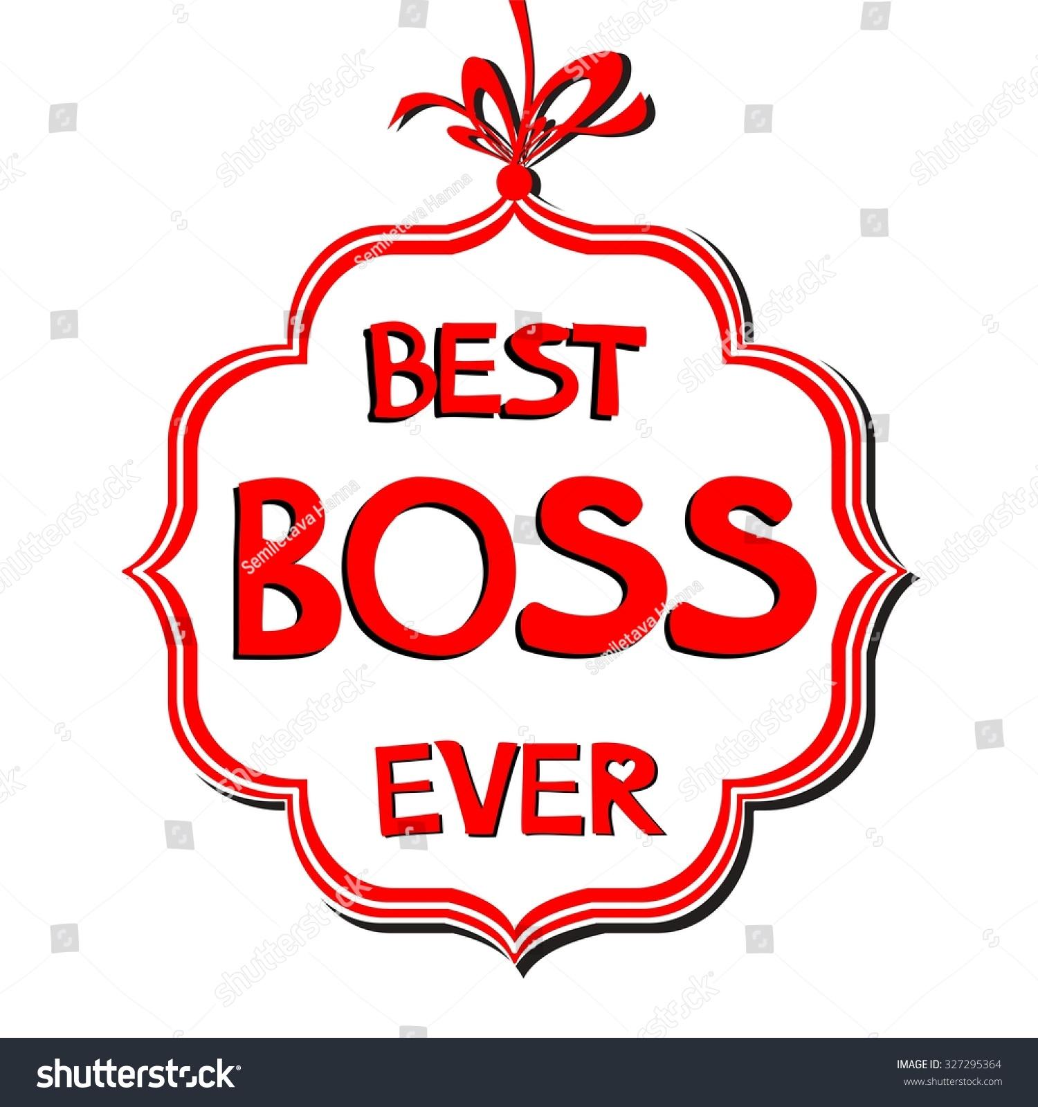 World\'s Best Boss Clipart.