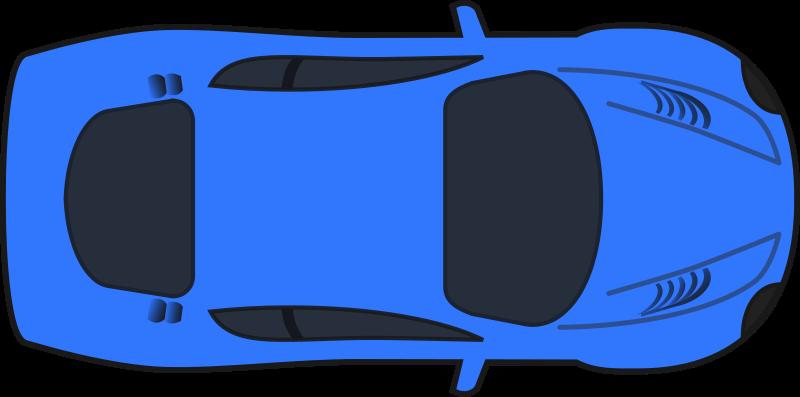 Free Clipart: Dark Blue Racing Car (Top View).