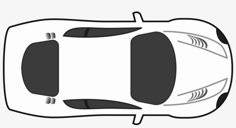 28 Collection Of Top View Of A Car Clipart.