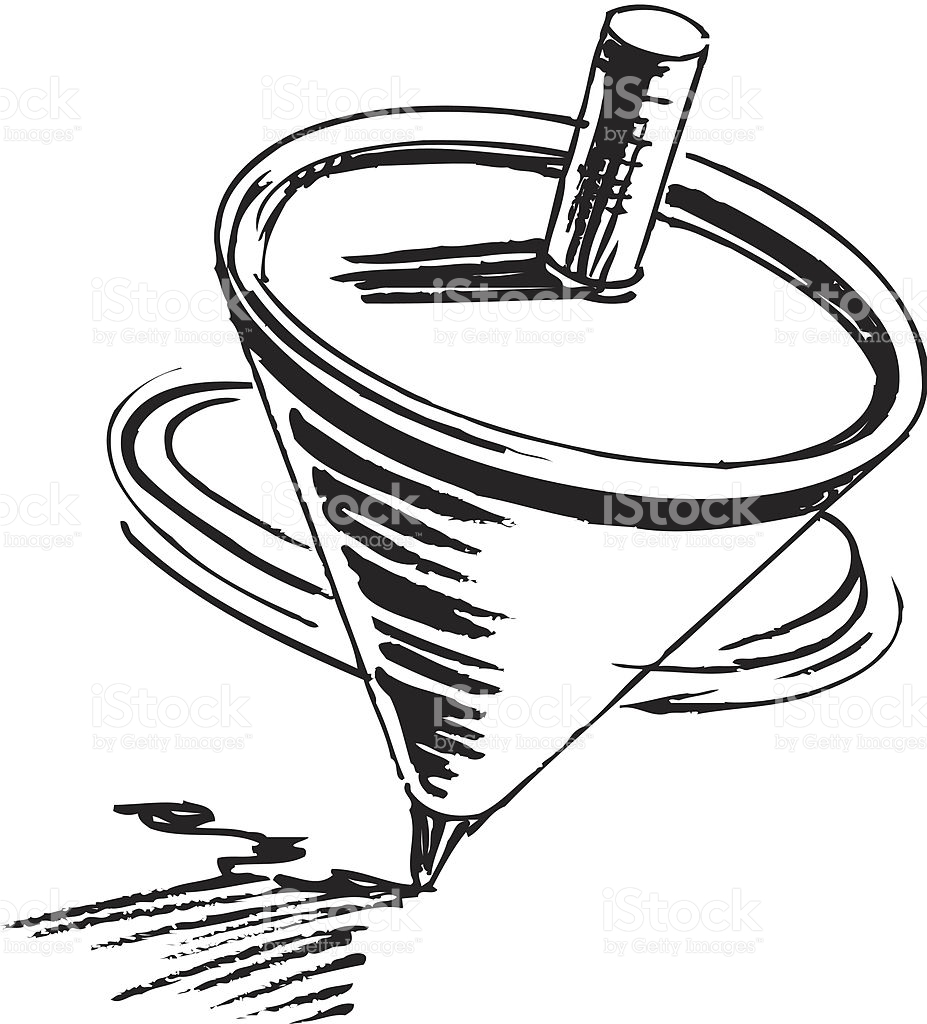 Spinning Top Clipart Black And White.