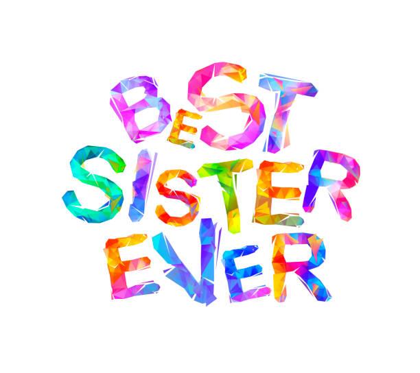 Best Sister Ever Illustrations, Royalty.