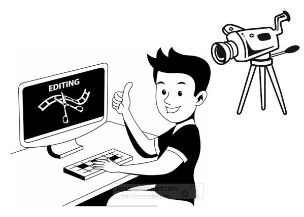 Film And Video Editor Clipart.