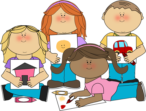 School Kids Coloring Clip Art.