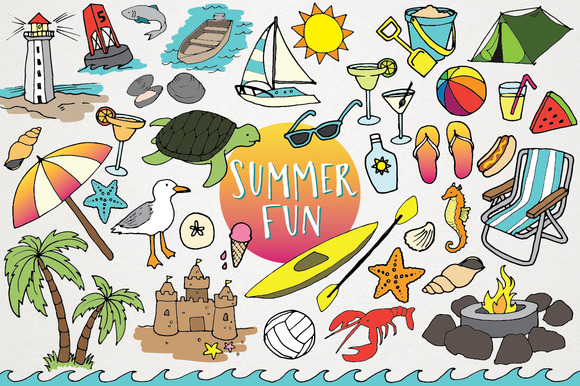 The Best Summer Clipart Deals For Designers.