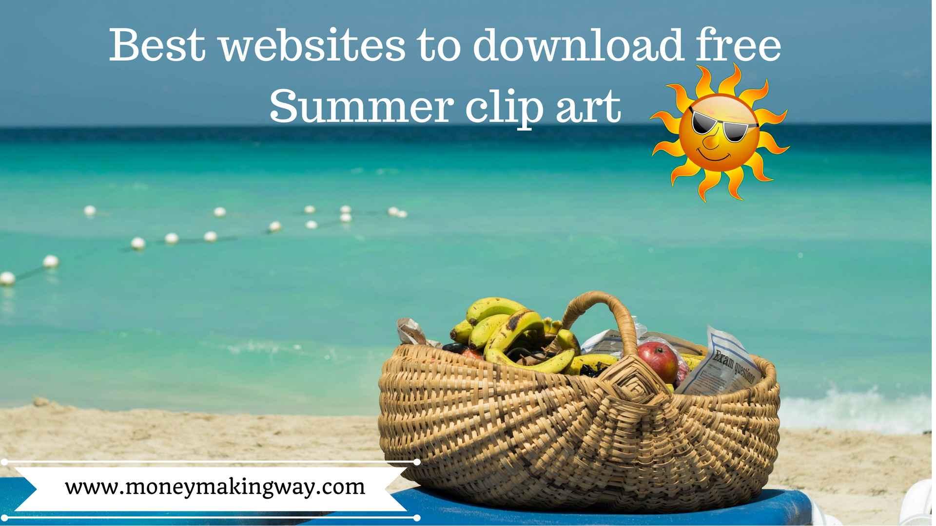 5 Best websites to download free summer clip art.