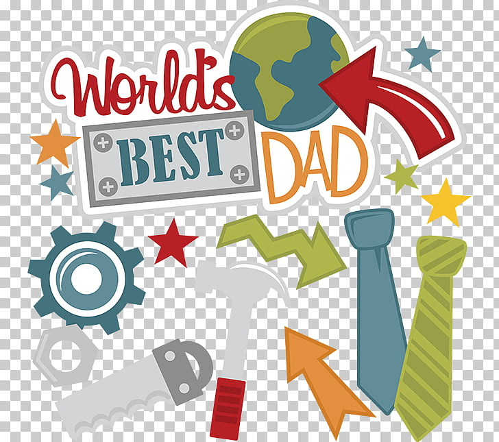 Father\'s Day Gift Family , father, blue and green World\'s.