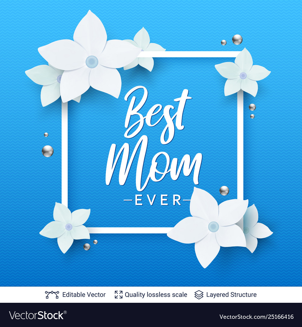 Mother day greeting card banner template.