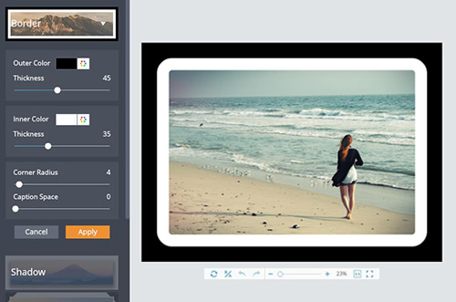 Add Photo Frames to Your Photos Online.