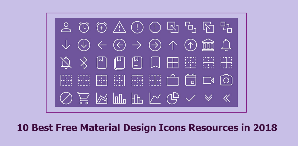 10 Best Free Material Design Icons Resources in 2018 for Inspiration.