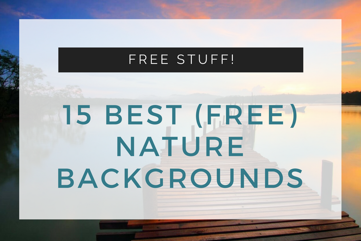15 of the Very Best FREE Nature Backgrounds for Use on Your Website.