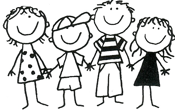 Friends Clipart Black And White.