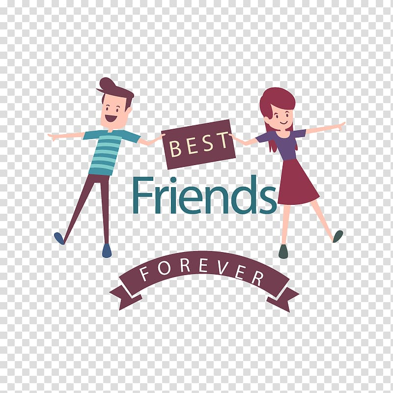 Best friends forever illustration, Friendship Day Love, we.