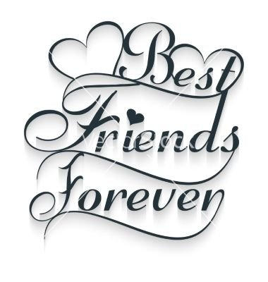Best friends forever calligraphy text vector in 2019.