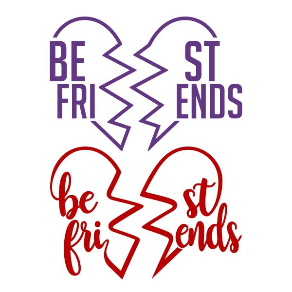 Best Friend SVG Cuttable Design.