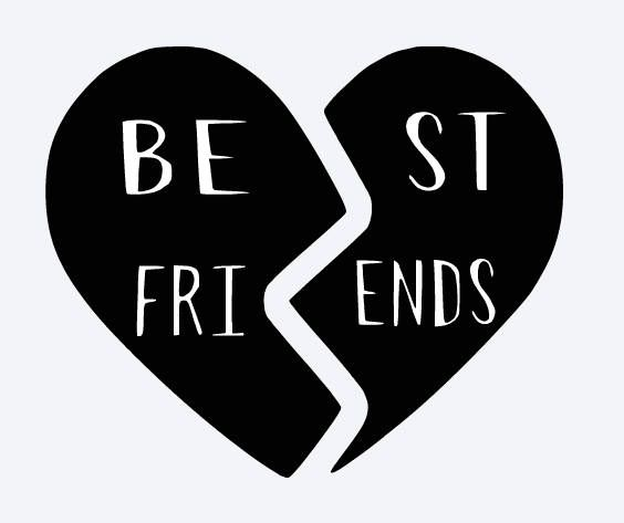 SVG best friends best friends heart broken heart matching.