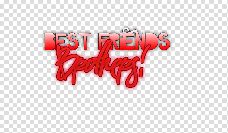 Best friend Brothers transparent background PNG clipart.