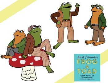 Best Friends: Frog and Toad Clip Art Set.