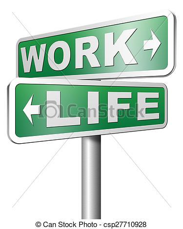 Clip Art of work versus life.