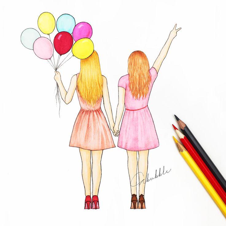 25+ best ideas about Best Friend Drawings on Pinterest.