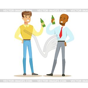 Best Friends Having Beer After Work, Part Of.