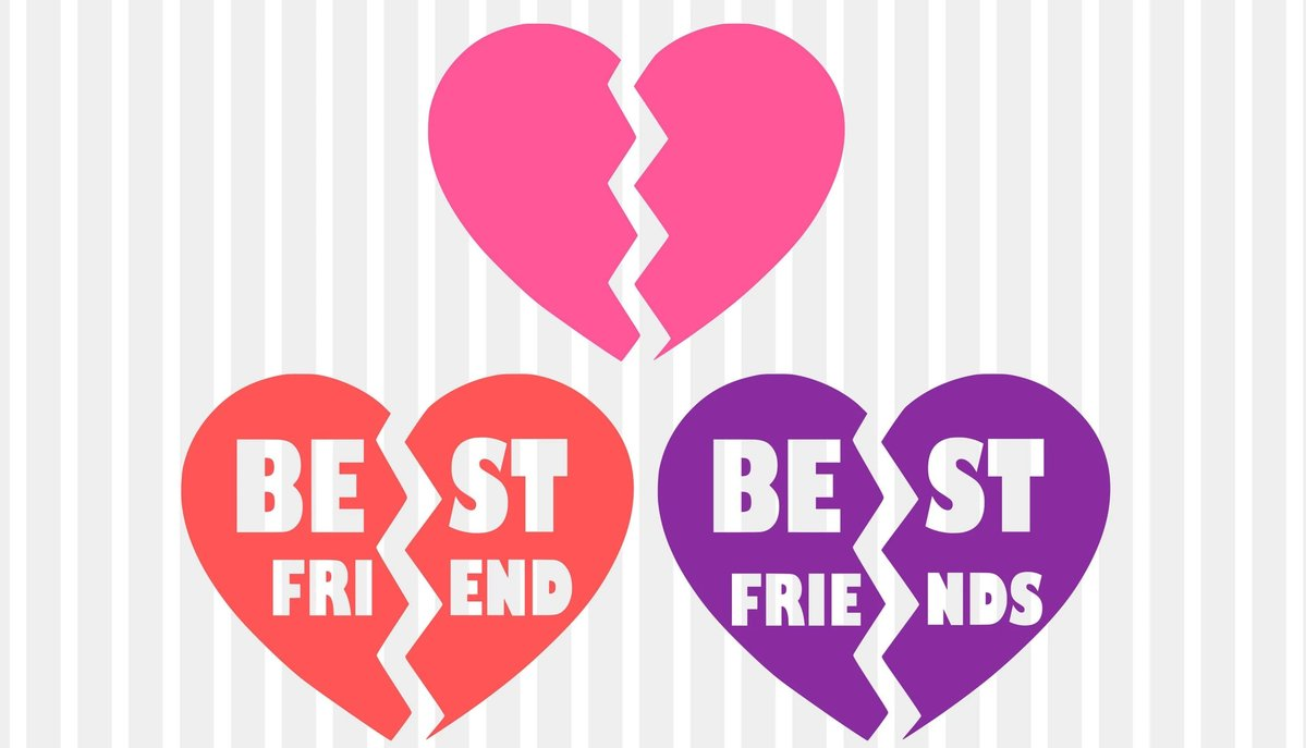 Best friends svg, bff svg, heart svg, broken heart svg, bestie svg, besties  svg, svg designs, svg files, best friend svg, friendship svg dxf.