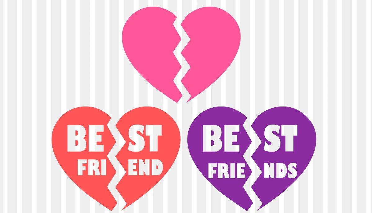 Best friends svg, bff svg, heart svg, broken heart svg, bestie svg, besties  svg, svg designs, svg files, best friend svg, friendship svg dxf.
