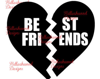 Best Friends Heart Clipart.