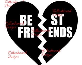 Best Friends Heart Clipart.