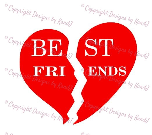 Best Friends Broken Heart Clipart.