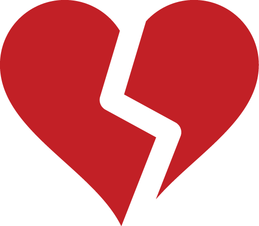 Best friend broken heart outline clipart.