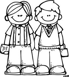 Best friends clipart black and white.
