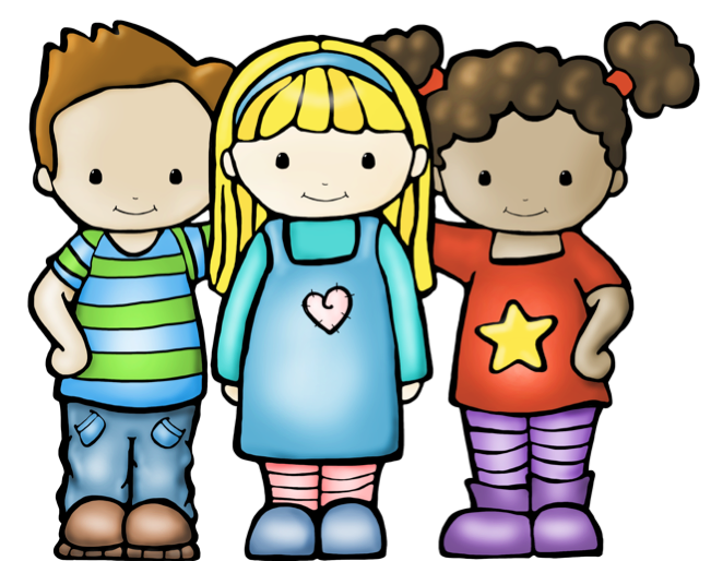 3 best friends clipart.