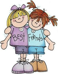 Clip Art Girl Best Friends Clipart.