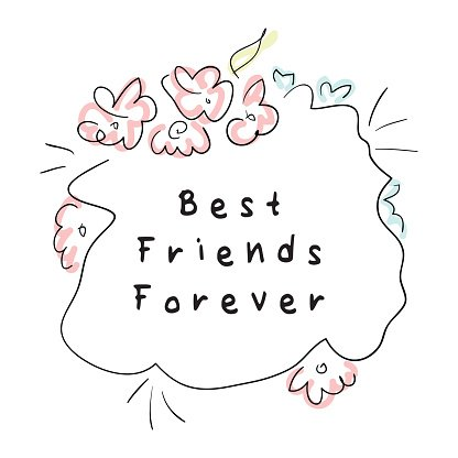 Best Friends Forever Clipart Image.