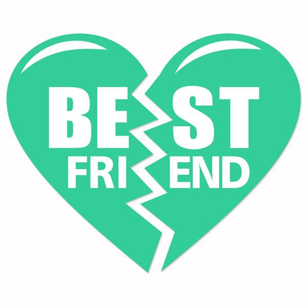 Best Friend Heart Clipart.