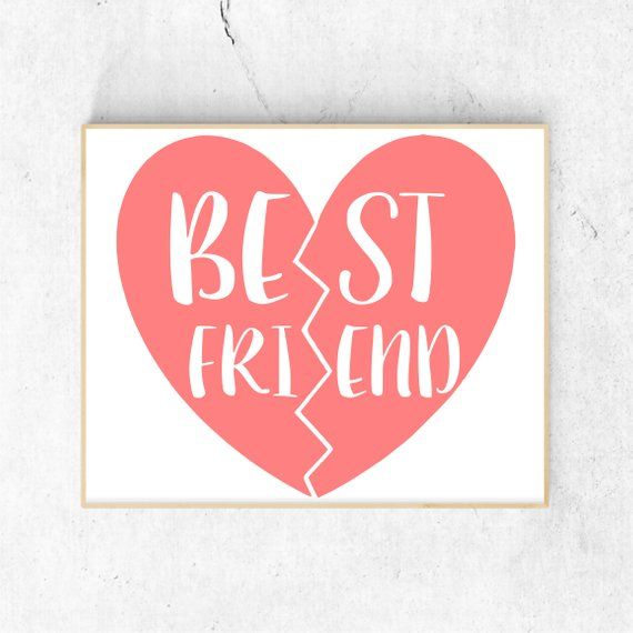 Best Friends Svg Files for Cricut, Bff Svg Files, Valentine.