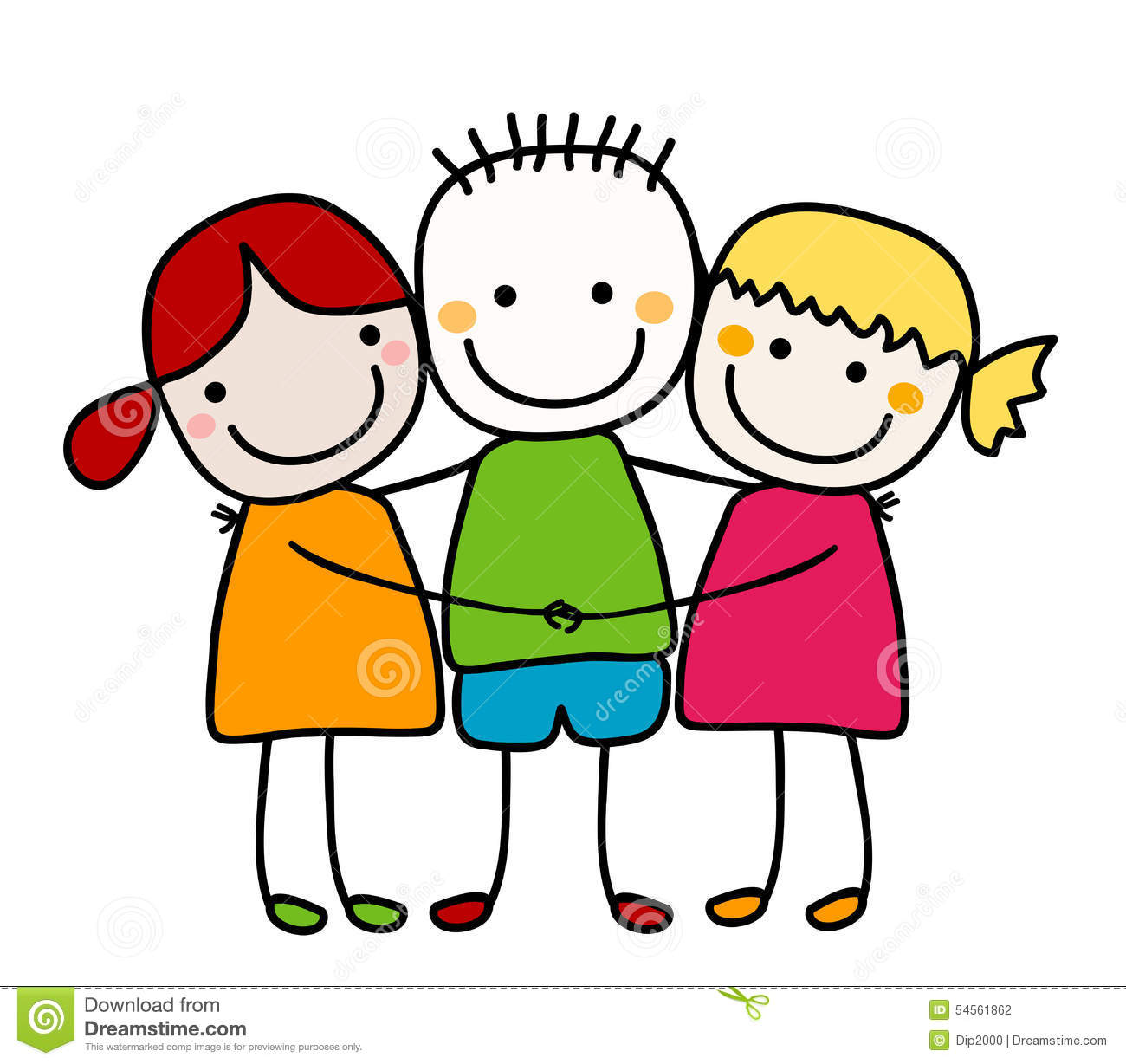 Friends hugging clipart 2 » Clipart Station.