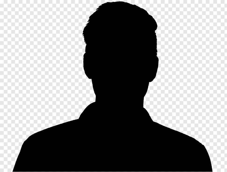 Man, Silhouette, Portrait, Head Shot, Male, Face, Neck.