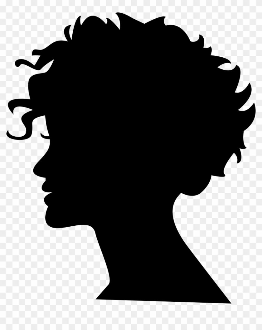 Woman Head Silhouette With Short Hair Comments.