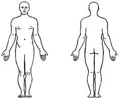 Human Body Anatomy Outline Printable for Kids.