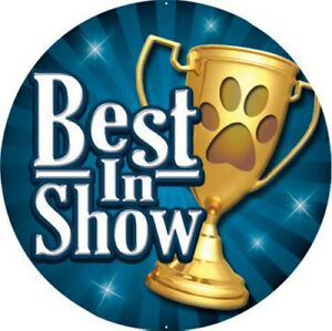 Details about 24x PRINTED DOG BEST IN SHOW TROPHY MEDAL INSERTS FLAT OR  DOMED 25mm *NEW*.