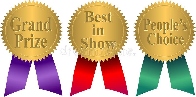 Award Ribbons Stock Illustrations.