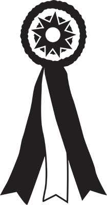 Best in Show Ribbon 10 Inch Cuttable Clip Art Embroidery Designs.