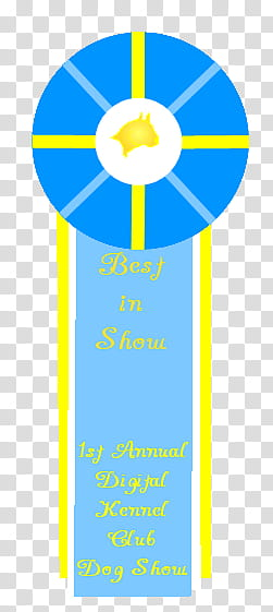 DKC dog show Best of _____ Class ribbon, no name transparent.