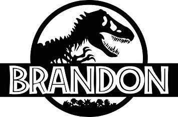 Amazon.com: Personalized Jurassic Park Wall Decal Girl Boy.