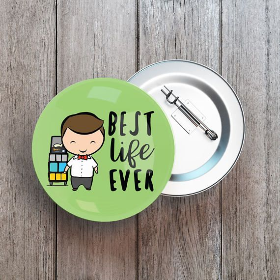 Best Life Ever Button Badge Pins Set.