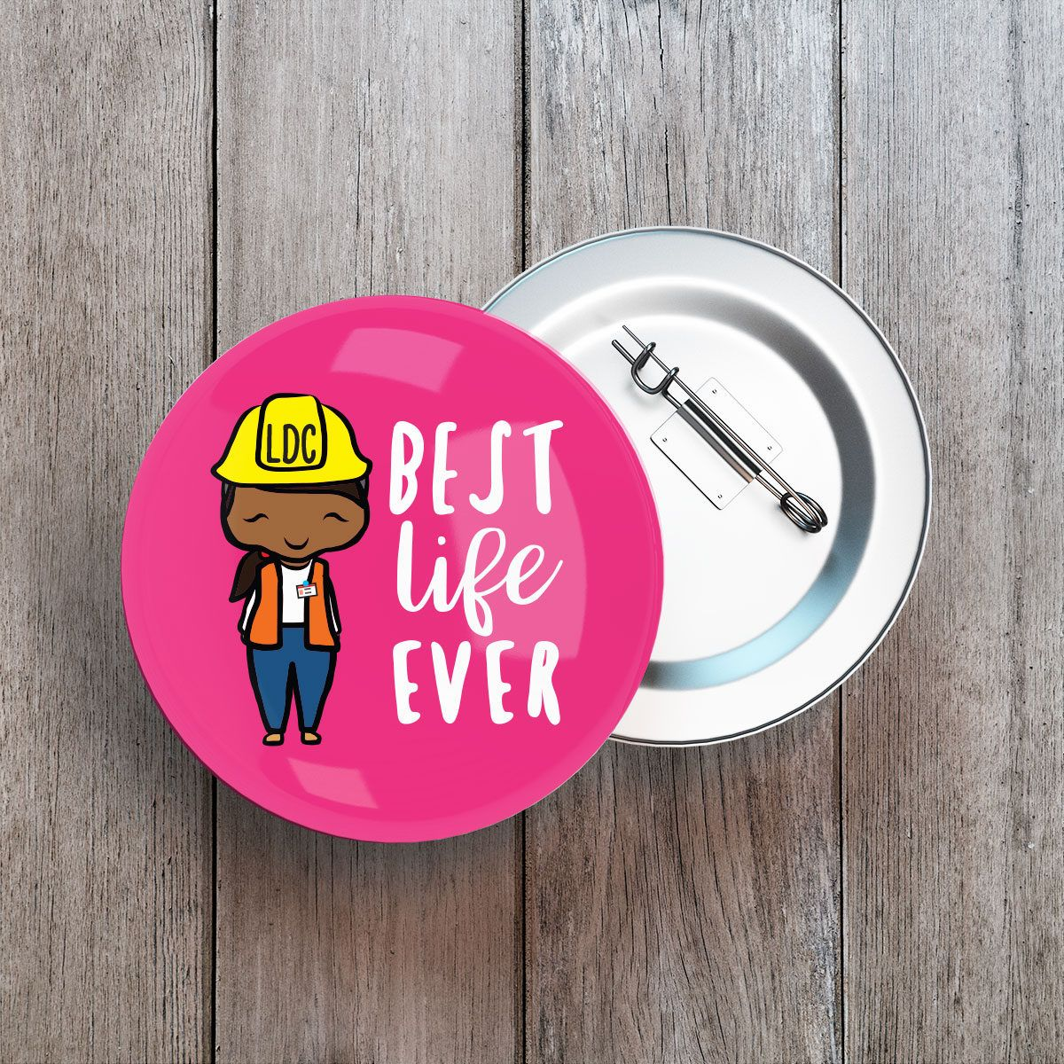 Best Life Ever Button Badge Pin Set.