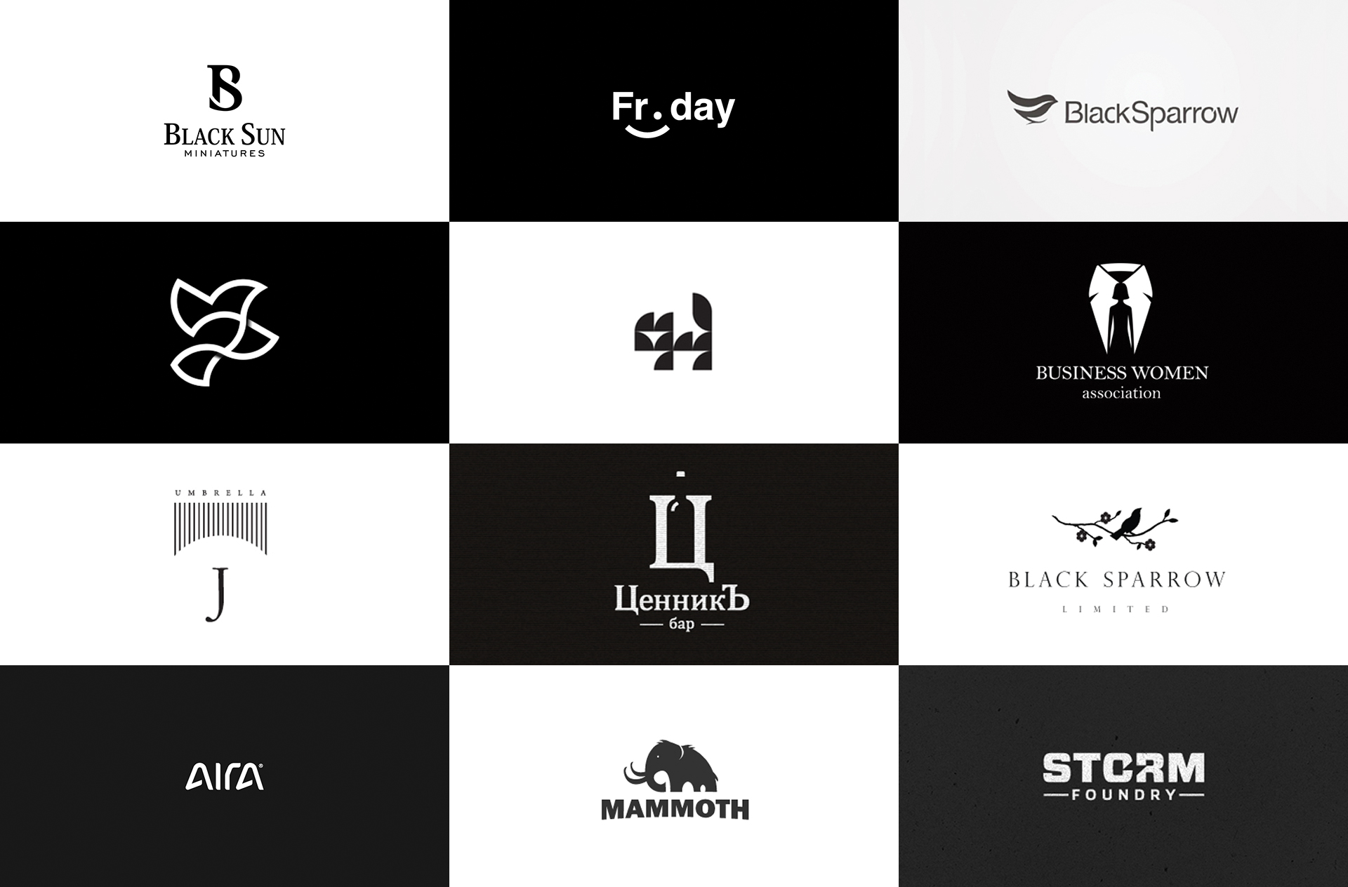 60 Black & White logos that will rock your mind.