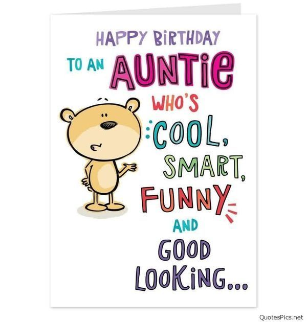 Happy Birthday Aunt.
