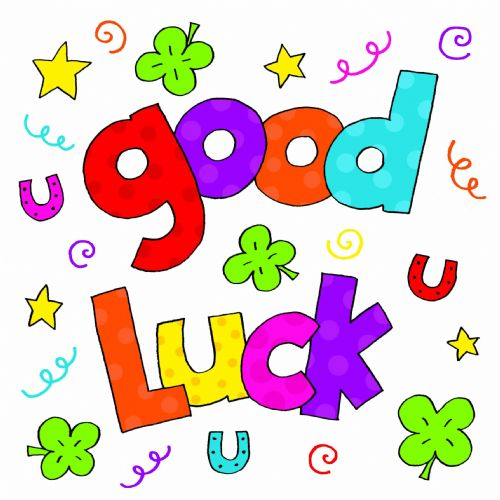 Good Luck Colorful Text Clipart.